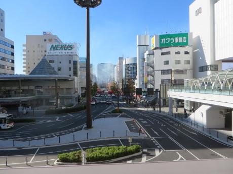 高崎駅の近くで火事