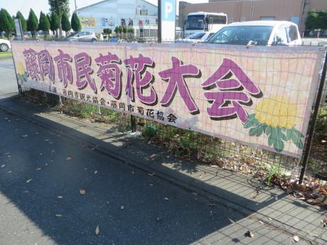 ららん藤岡の花の交流館で藤岡市民菊花大会