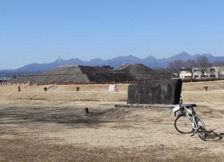 自転車で八幡塚古墳