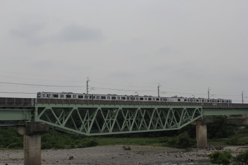 利根川を渡るB.B.BASE