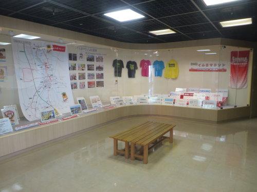 群馬県庁ではぐんまマラソンのメダルなど展示中