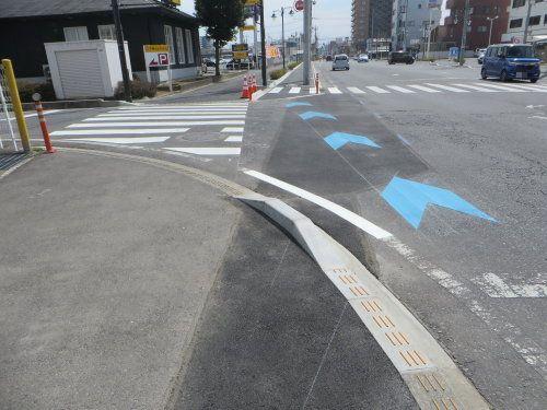 安全な自転車レーン