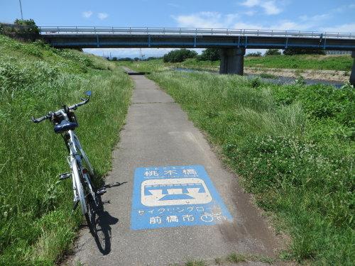 桃ノ木川サイクリングロードを久しぶりに