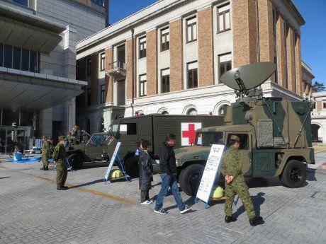 群馬県庁で行われた危機管理フェア